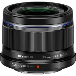 olympus objectief met vaste brandpuntsafstand m.zuiko digital 25 mm f1.8 zwart