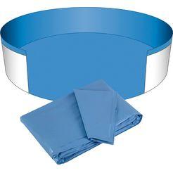 clear pool zwembadbinnenbekleding voor ronde zwembaden, 0,6 mm dikte, in verschillende maten blauw
