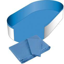 clear pool zwembadbinnenbekleding voor ovaalvormige zwembaden, 0,6 mm dik blauw