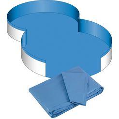 clear pool zwembadbinnenbekleding voor achthoekige bassins, 0,6 mm dik, in verschillende maten blauw