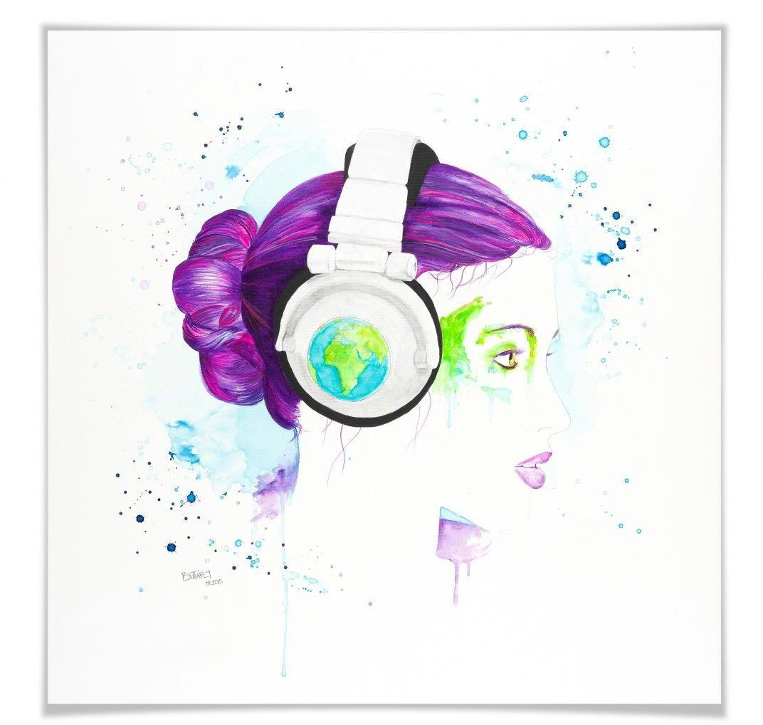 Wall-Art poster Listen to the World Poster, artprint, wandposter (1 stuk) voordelig en veilig online kopen