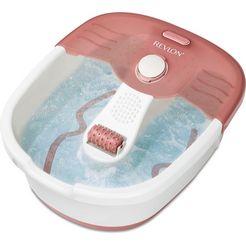 revlon bruis- en massage-voetenbad rvfb7021pe, ontspannende bruismassage inclusief pedicureset wit