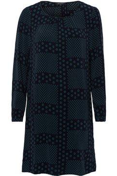 marc o'polo gedessineerde jurk blauw