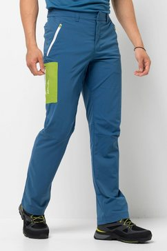 jack wolfskin softshell-broek »overland pants m« blauw