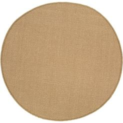 sisalkleed, »sisal«, andiamo, rond, hoogte 5 mm, machinaal geweven beige