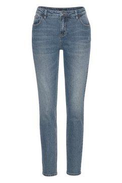 opus skinny fit jeans »ely« blauw