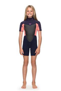 roxy - 2-2mm prologue - springsuit met korte mouwen en achterrits voor meisjes 8-16 roze