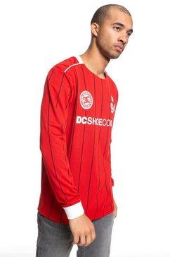 dcshoes voetbal jersey met lange mouwen ''emmonsdale'' rood