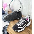 skechers sneakers »d´lites - biggest fan« zwart
