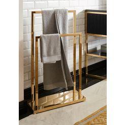 guido maria kretschmer homeliving handdoekhouder passau gemaakt van roestvrij staal goud