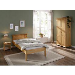 home affaire slaapkamerserie mitu gemaakt van massief grenen (3 delen) (set, 3 stuks) beige