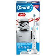 oral b elektrische kindertandenborstel junior star wars, opzetborsteltjes: 1 wit