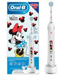 oral b elektrische kindertandenborstel junior minnie mouse, opzetborsteltjes: 1 wit