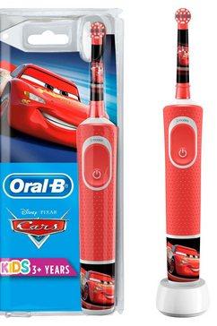 oral b elektrische kindertandenborstel cars, opzetborsteltjes: 1 rood