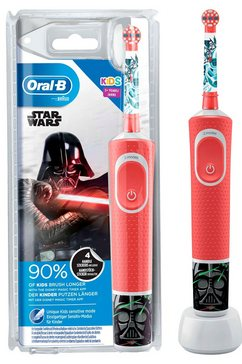 oral b elektrische kindertandenborstel kids star wars, opzetborsteltjes: 1 rood