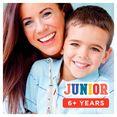 oral b elektrische tandenborstel junior smart, opzetborsteltjes: 1 wit