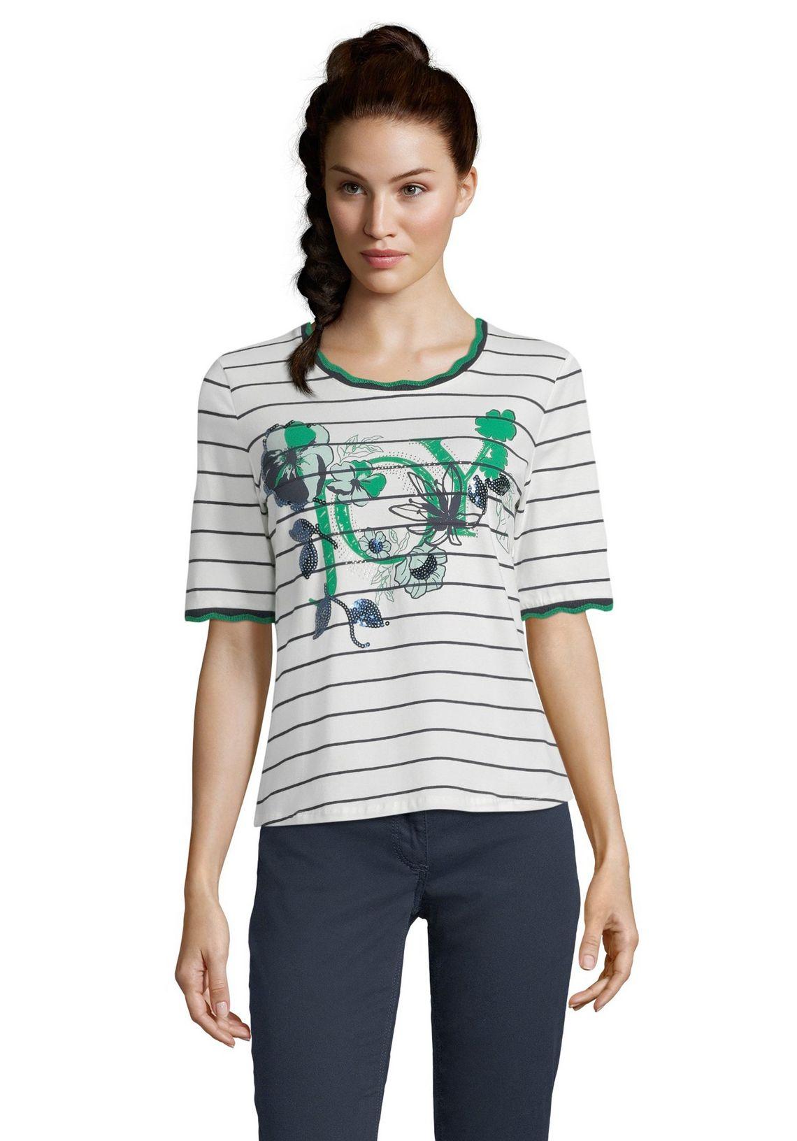 Betty Barclay Gestreept Shirt In De Online Shop Cream/green - Wit ryVuFy6H