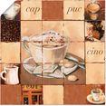 artland artprint cappuccino in vele afmetingen  productsoorten - artprint van aluminium - artprint voor buiten, artprint op linnen, poster, muursticker - wandfolie ook geschikt voor de badkamer (1 stuk) beige