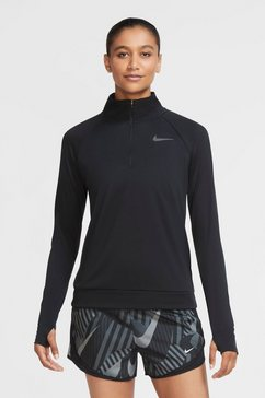 nike runningshirt »nike pacer women's 1-4-zip running top« zwart