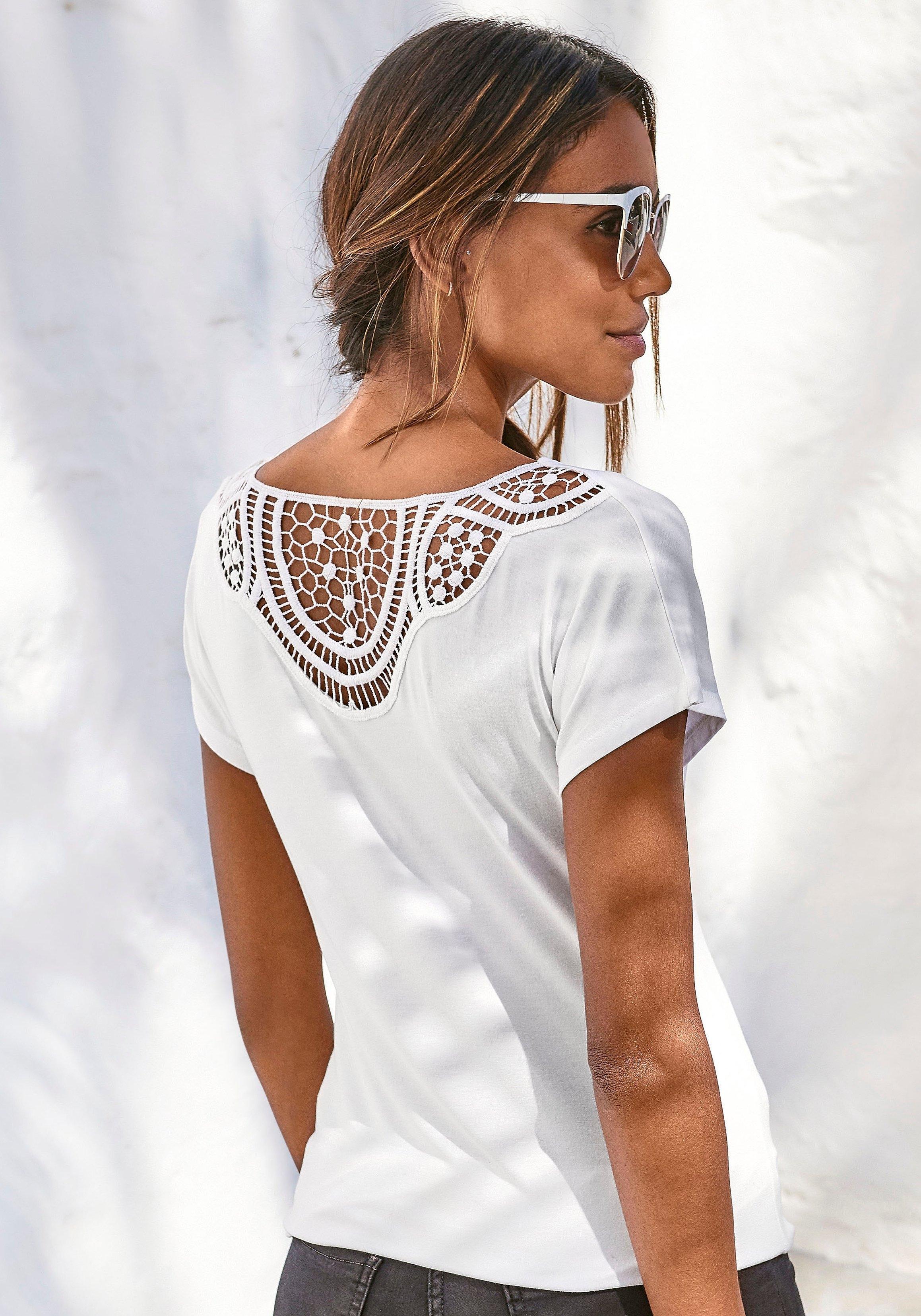 Vivance T-shirt met zachte gehaakte kant achter - verschillende betaalmethodes