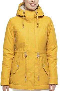 ragwear plus regenjack regenjack van waterafstotend materiaal geel