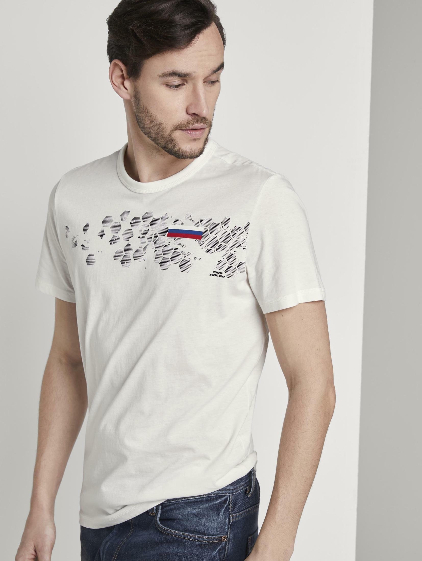 TOM TAILOR T-shirt »T-Shirt mit Fußball-EM-Print« nu online bestellen
