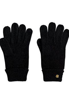 roxy gebreide handschoenen ''let it snow'' zwart