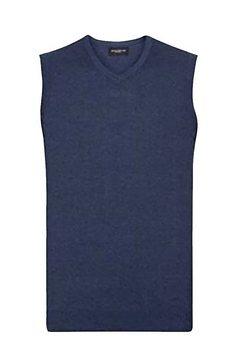 russell slip-over collection heren breisel met v-hals blauw