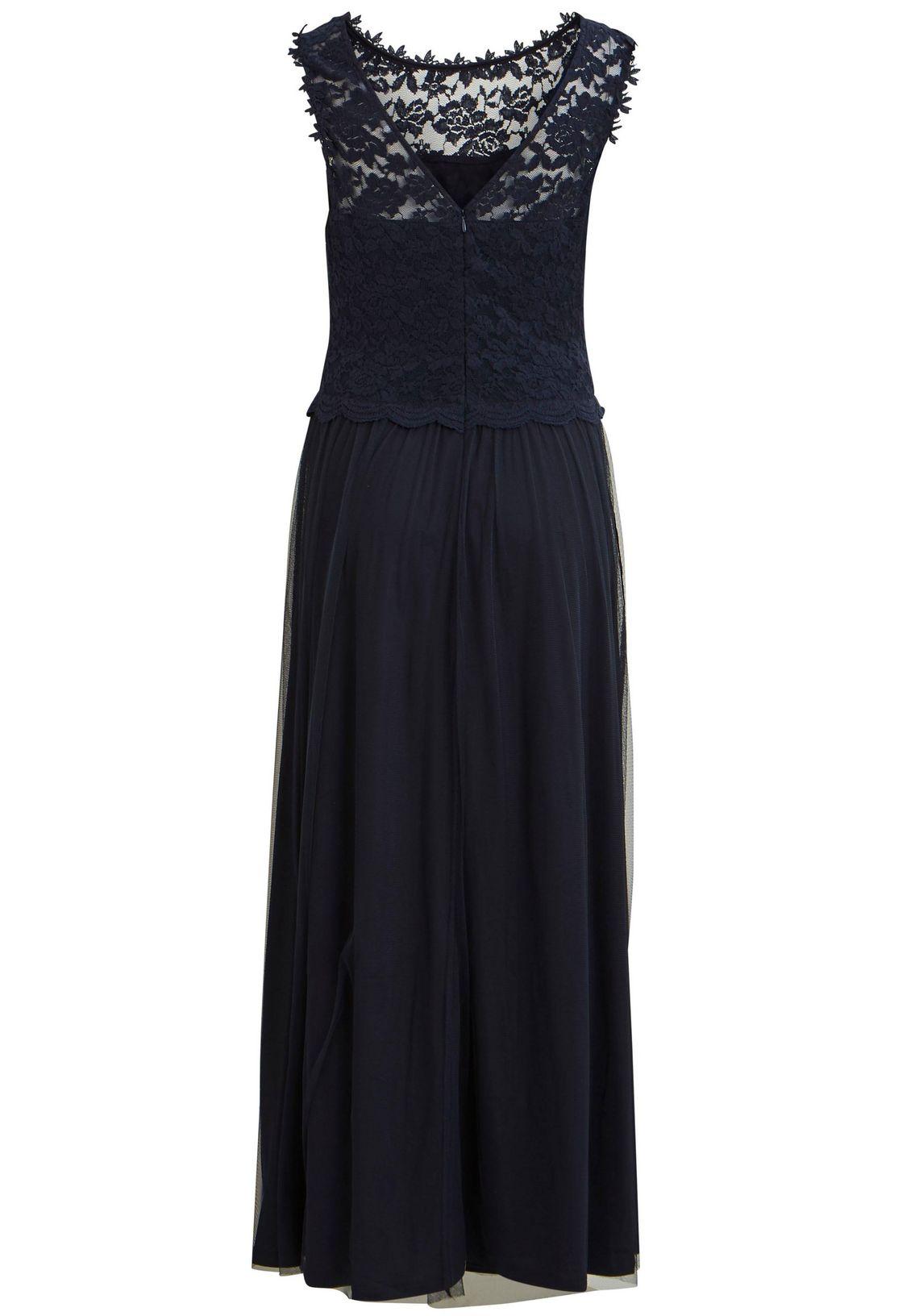 Vila Maxi-jurk Lynnea Makkelijk Gekocht Donkerblauw AKDzB64l