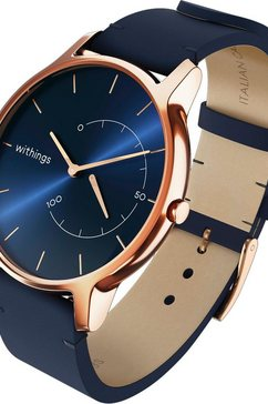 withings »move timeless chic lederband« fitness-horloge goud
