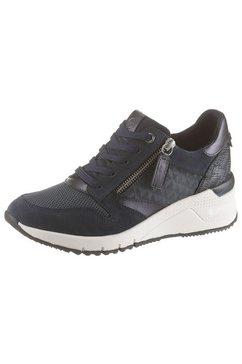 tamaris sneakers met sleehak »rea« blauw