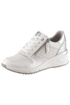 tamaris sneakers met sleehak »rea« weiß