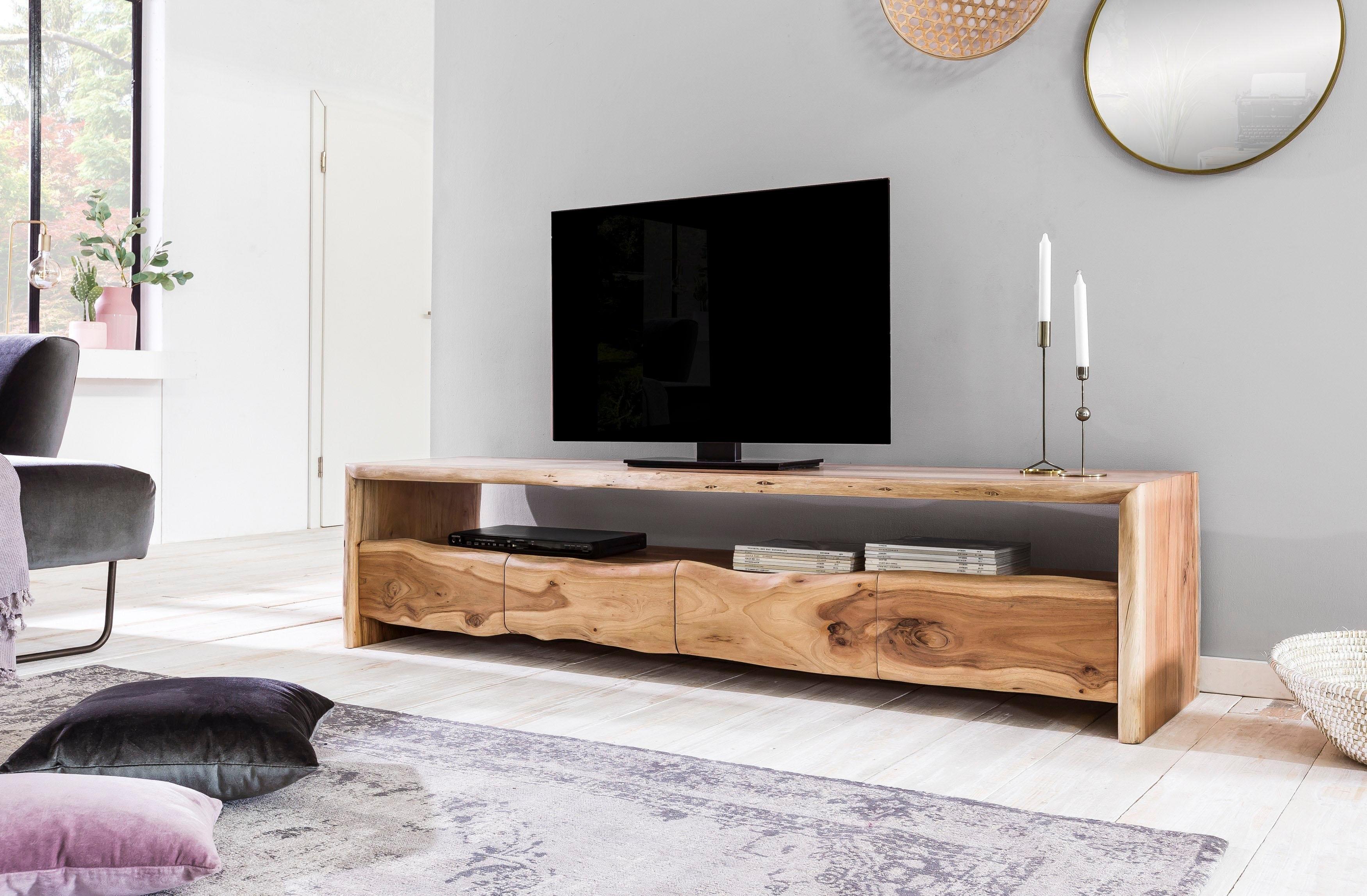 SIT tv-meubel Albero massief acaciahout in boomstam-look, breedte 190 cm online kopen op otto.nl