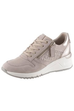 tamaris sneakers met sleehak »rea« bruin