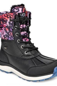 ugg snowboots »adirondack boot iii graffiti« zwart