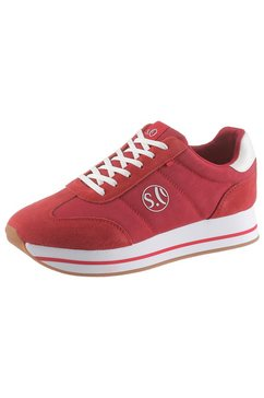 s.oliver plateausneakers rood