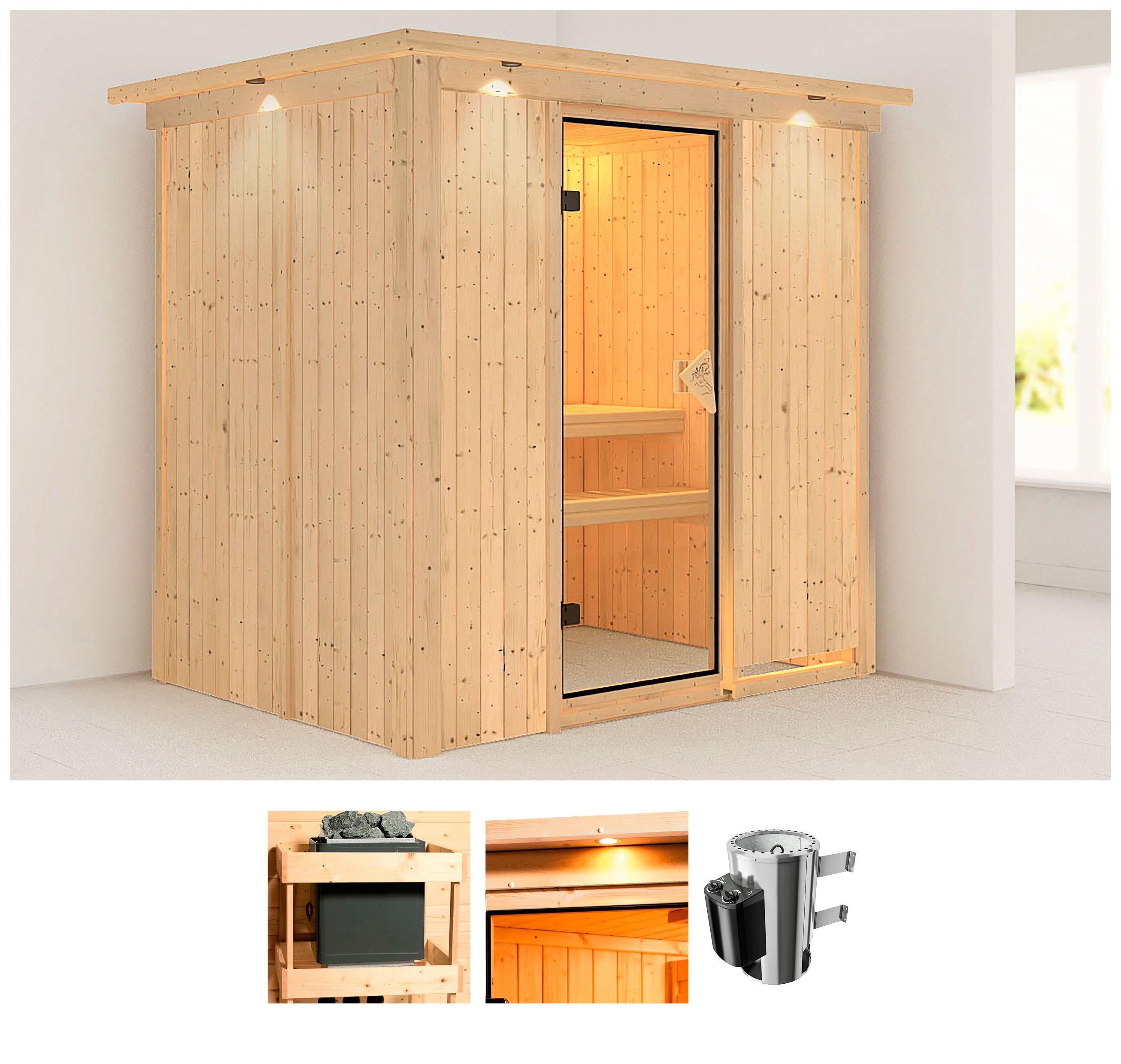 Karibu sauna »Anki«, 210x165x202 cm, 3,6 kW Plug & Play Ofen mit int. Steuerung nu online bestellen