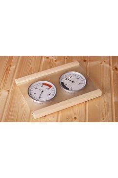karibu klimaatstation »premium«, met thermometer en hygrometer beige