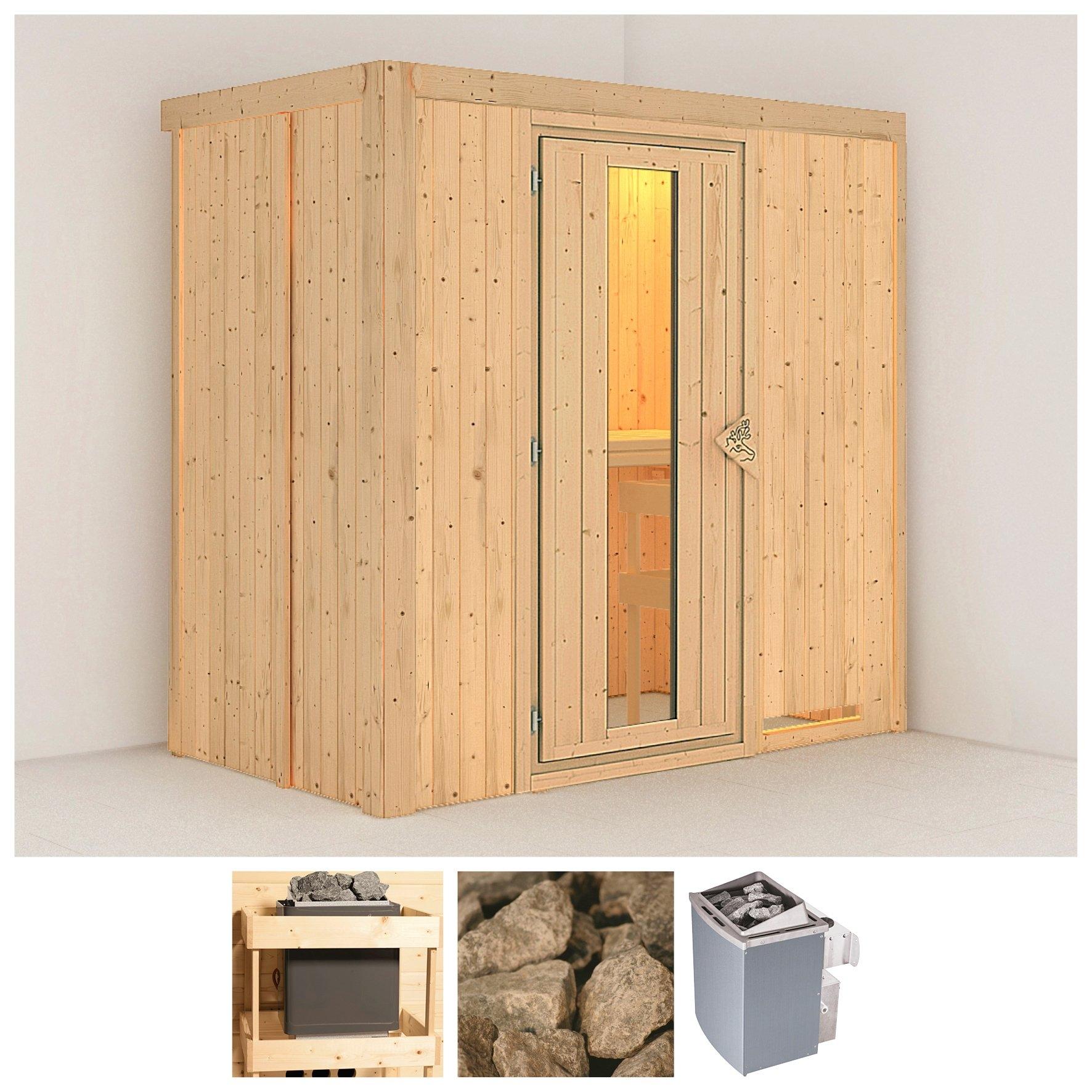 KONIFERA sauna »Variado«, 196/118/198 cm, 9-kW-Ofen mit int. Steuerung, Holztür goedkoop op otto.nl kopen
