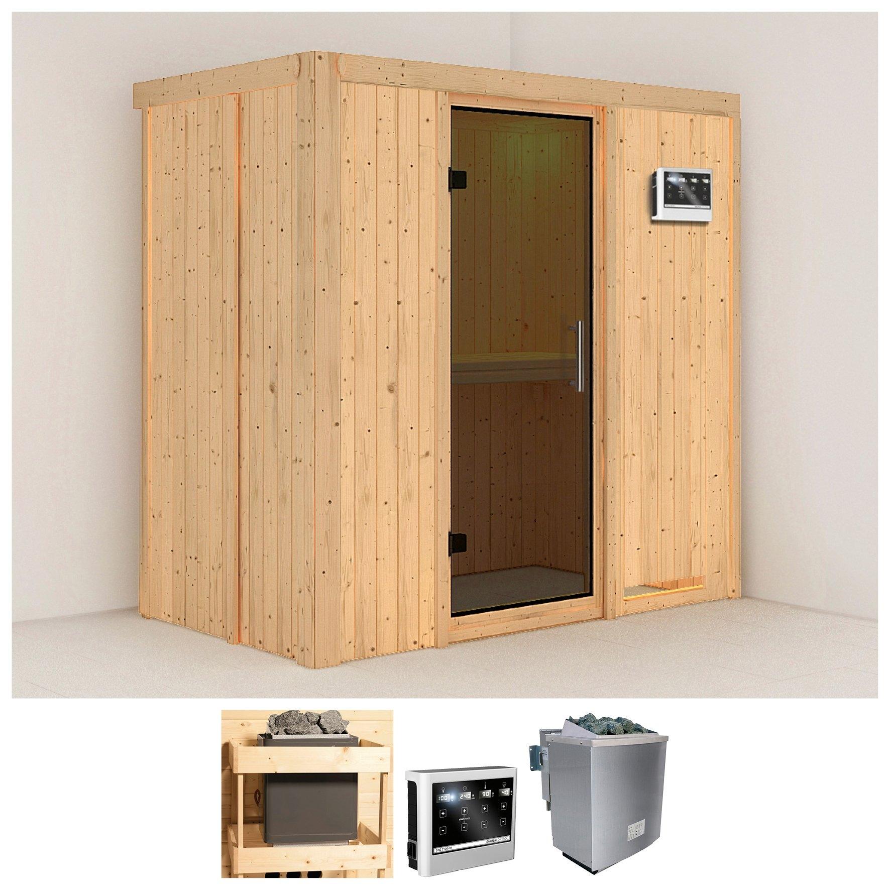 KONIFERA sauna »Variado«, 196/118/198 cm, 9-kW-Bio-Ofen mit ext. Strg., Glastür grafit nu online bestellen