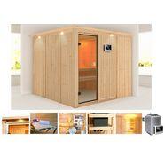 konifera sauna »monique«, 231-231-198 cm, 9-kw-ofen mit ext. steuerung beige
