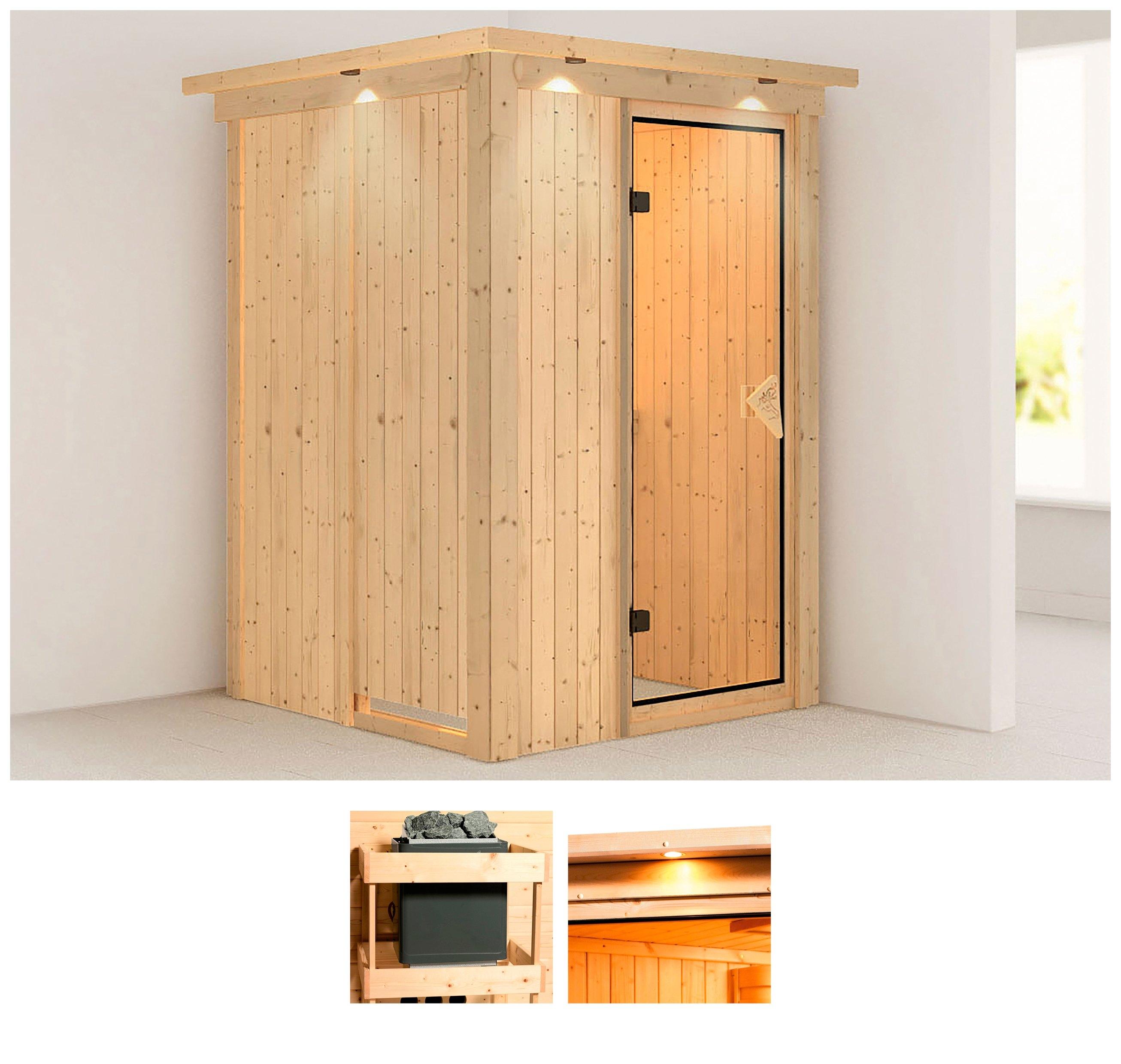 Karibu sauna »Fehmke«, 150x150x202 cm, ohne Ofen in de webshop van OTTO kopen