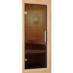 karibu saunadeur voor 38-40 mm-sauna, bxh: 64x173 cm grijs