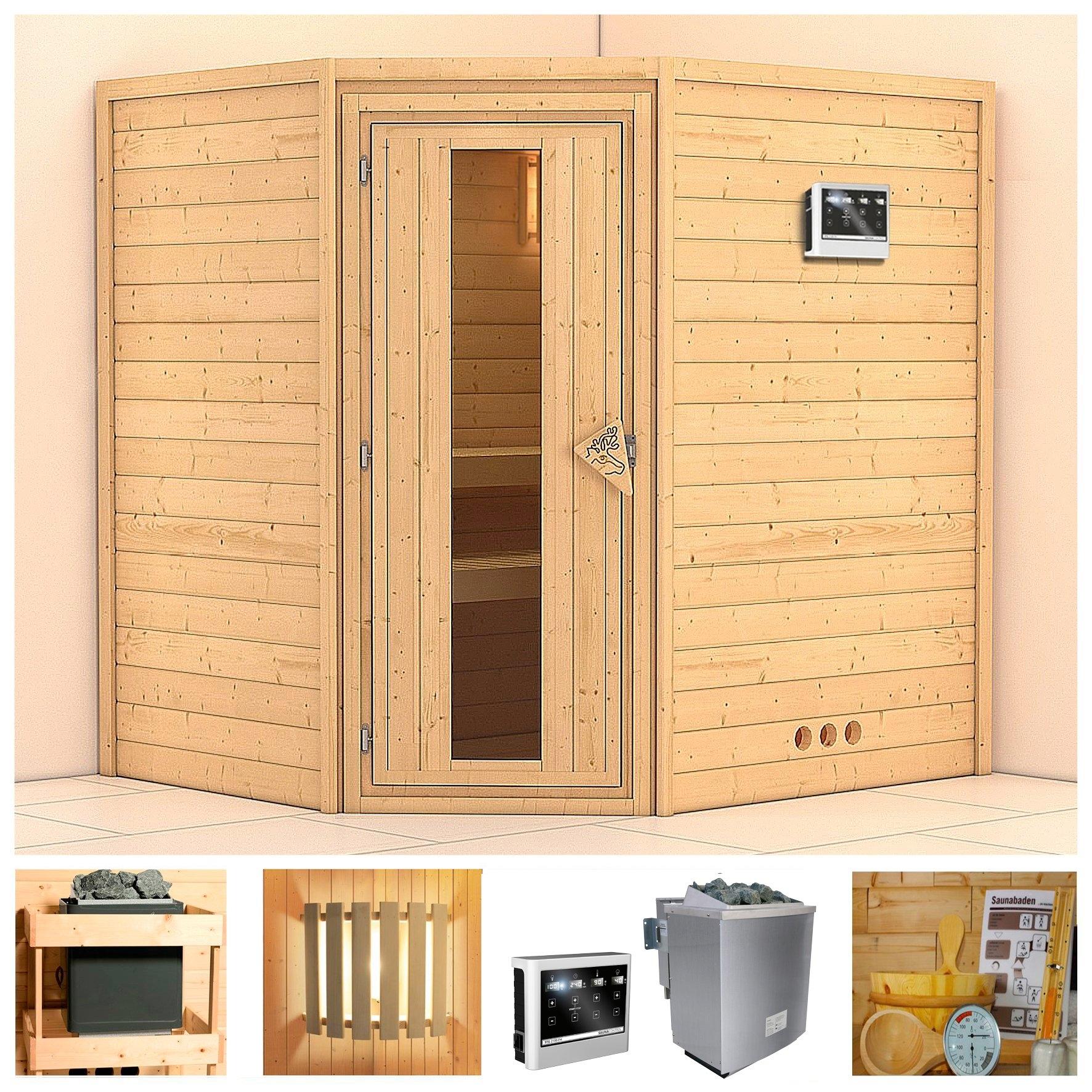 KONIFERA sauna »Mia«, 196/170/200 cm, 9-kW-Bio-Ofen mit ext. Strg., Holztür veilig op otto.nl kopen