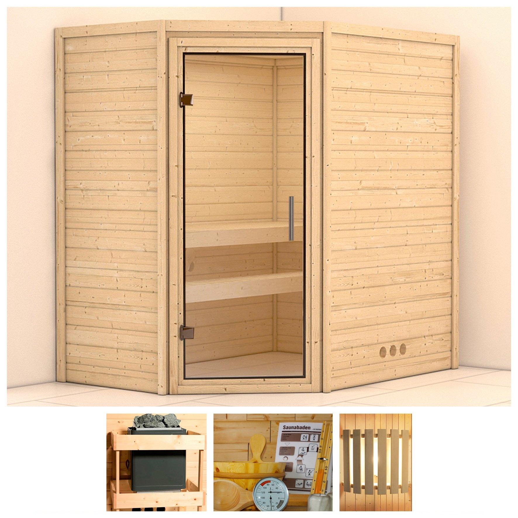 KONIFERA sauna »Svea«, 196/146/200 cm, ohne Ofen, Glastür klar bij OTTO online kopen