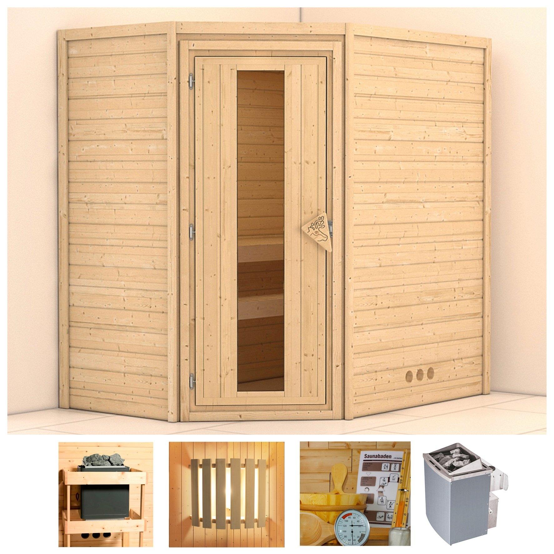 KONIFERA sauna »Svea«, 196/146/200 cm, 9-kW-Ofen mit int. Steuerung, Holztür bestellen: 30 dagen bedenktijd