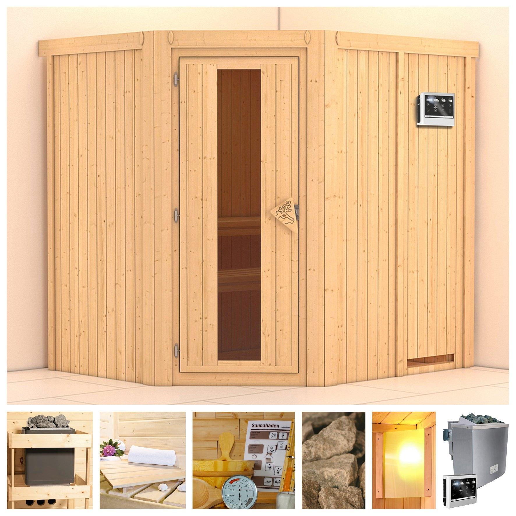KONIFERA sauna »Siirin«, 196/170/198 cm, 9-kW-Bio-Ofen mit ext. Strg., Holztür nu online bestellen