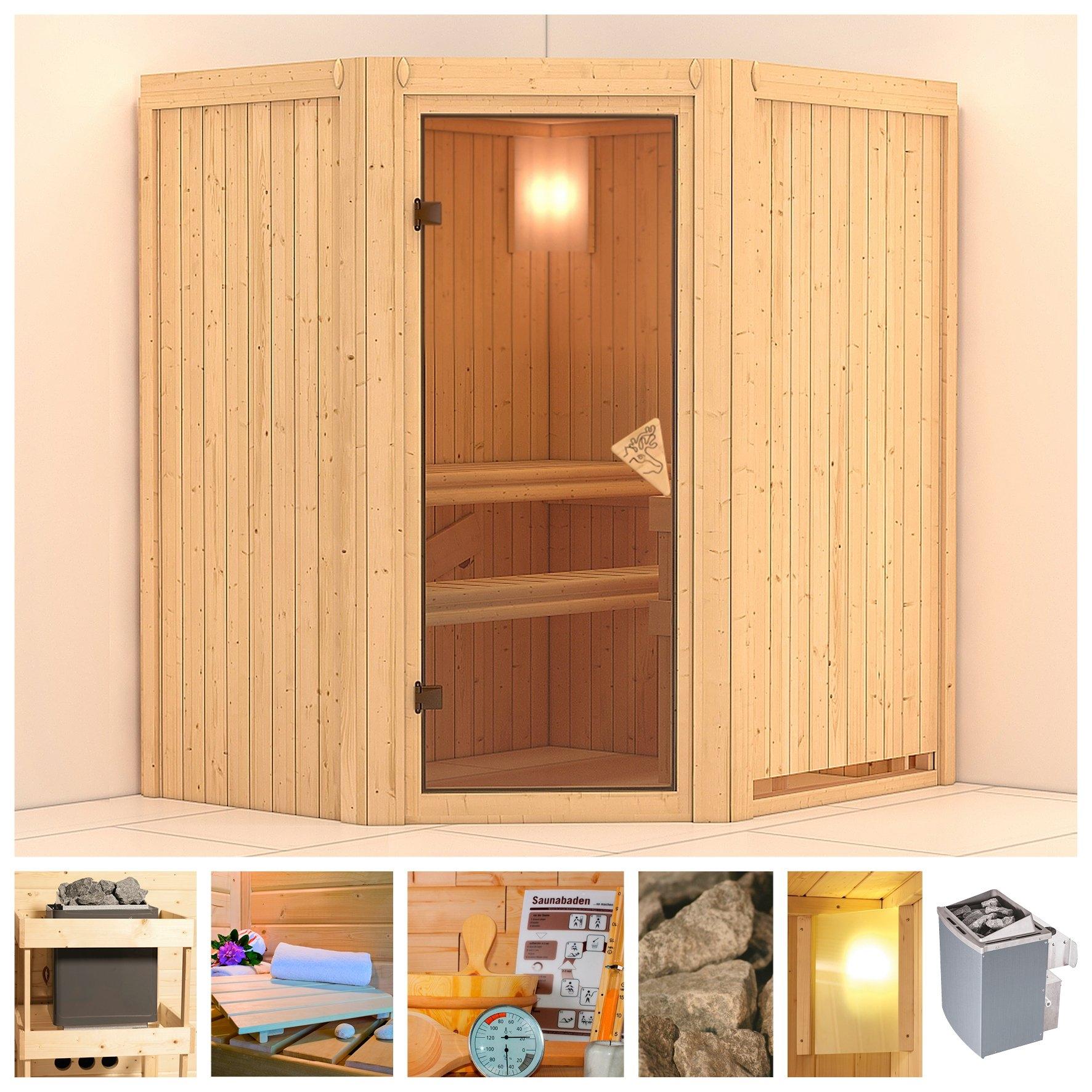 KONIFERA sauna »Taurin«, 170/151/202 cm, 68 mm, 9-kW-Ofen mit int. Steuerung veilig op otto.nl kopen
