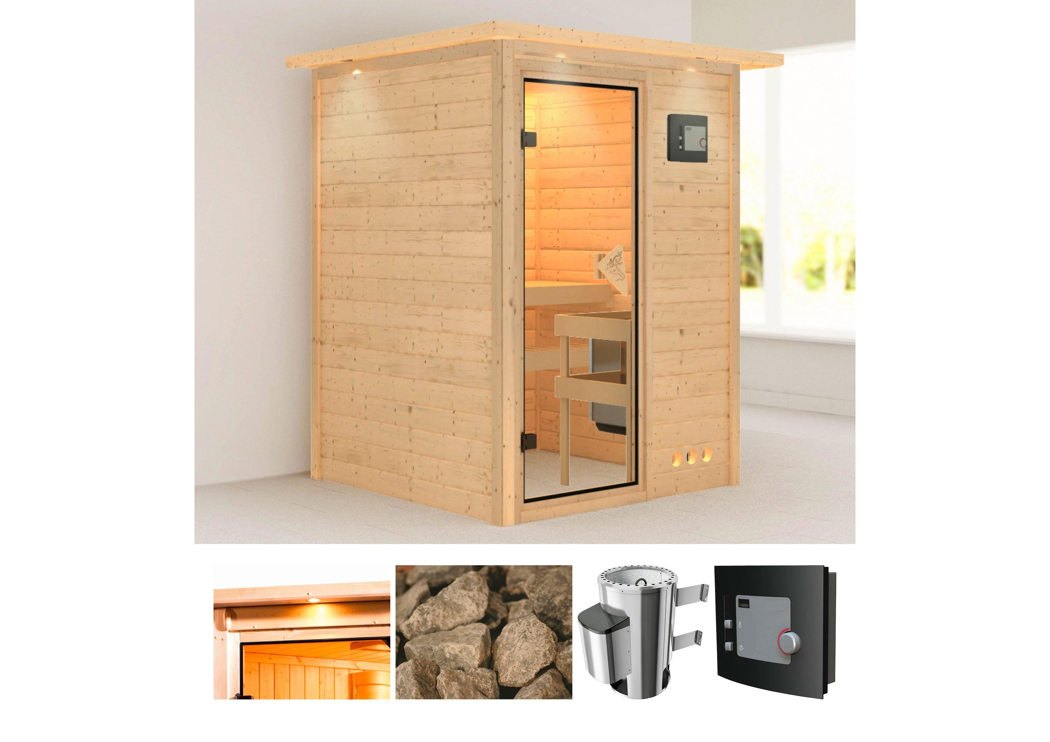 Karibu sauna »Nadja«, 174x160x202 cm, 3,6 kW Plug & Play Ofen mit ext. Steuerung nu online bestellen