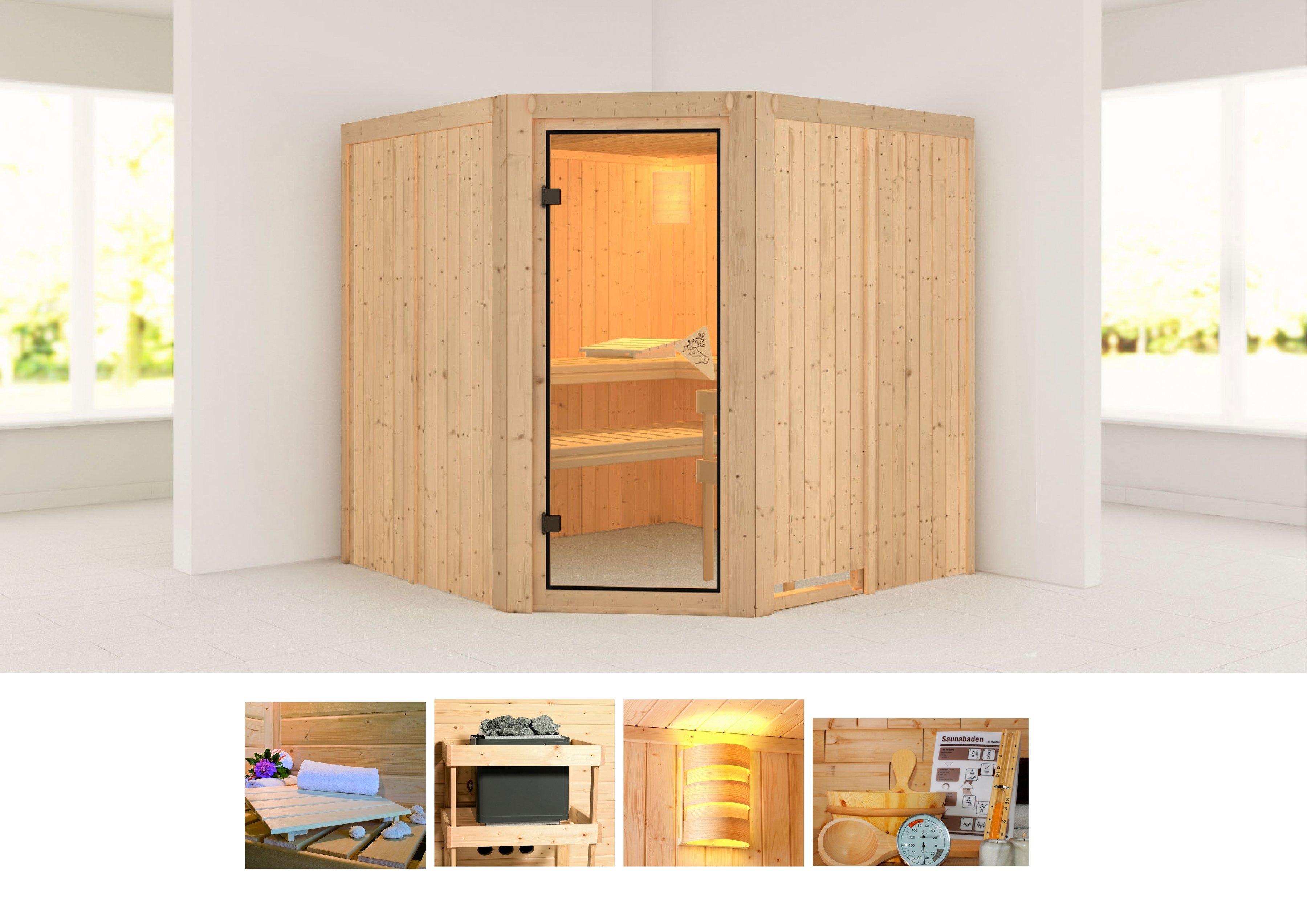 Konifera sauna »Jarin«, 196/196/198 cm, ohne Ofen veilig op otto.nl kopen